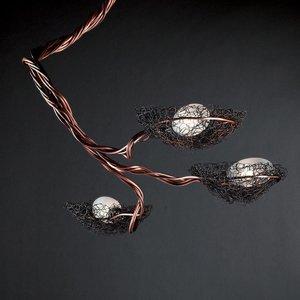 ICONE ICONE Nido – trojplameňová závesná lampa meď