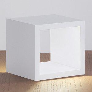 ICONE ICONE Cubò – stolná LED lampa, biela