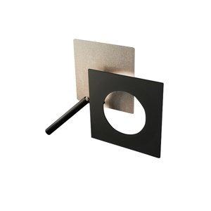 ICONE ICONE nástenné LED svetlo Petra 21.L, ekru, čierna