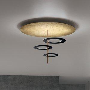 ICONE ICONE stropné LED svietidlo Hula Hoop P3 3 disky