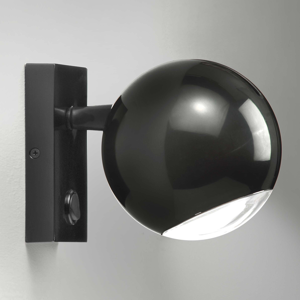 Milan Milan Bo-La nástenná lampa, držiak obdĺžnik čierna