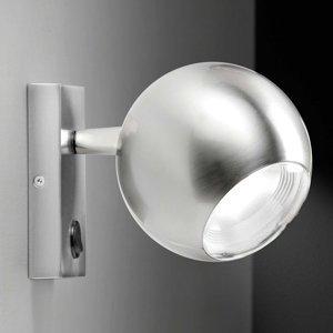 Milan Milan Bo-La nástenná lampa, držiak obdĺžnik, nikel