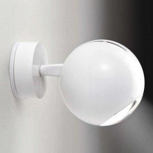 Milan Milan Bo-La nástenná lampa, držiak obdĺžnik, biela