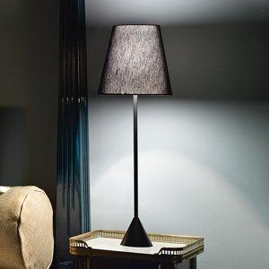 MODO LUCE Modo Luce Lucilla stolná lampa Ø 24cm čierna