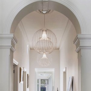 MODO LUCE Modo Luce Icaro Ball závesná lampa, biela, Ø 50cm