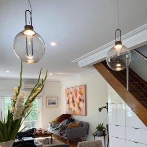 MODO LUCE Modo Luce Orb závesné LED svietidlo čierne Ø 25cm