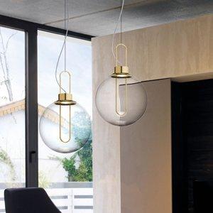 MODO LUCE Modo Luce Orb závesné LED, mosadzné, Ø 40cm