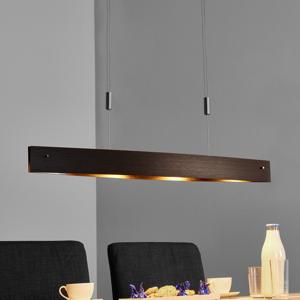 Lucande Drevené závesné LED Malu – výškovo nastaviteľné