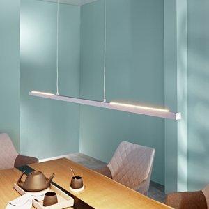 Lampenwelt.com Závesné LED svietidlo Rico matný hliník 118 cm