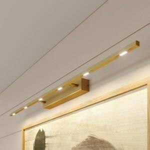 Lucande Lucande Tolu obrazové svetlo mosadz matná, 119cm