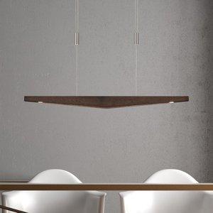 Lucande Lucande Dila závesné LED, koloniálny dub, 88cm