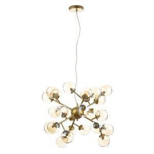 Maytoni Závesná lampa Dallas 24 sklenených gulí, zlatá