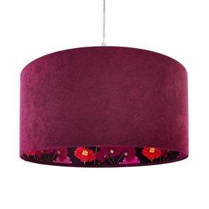 Maco Design Závesná lampa Savanna so zamatovým tienidlom