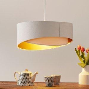 Maco Design Dvojfarebná závesná lampa Chloe vrstvený vzhľad