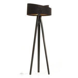 Maco Design Stojaca lampa Emi – trojnožka a 2-farebné tienidlo