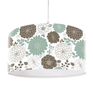 Maco Design Závesná lampa Mariella s kvetinovým motívom