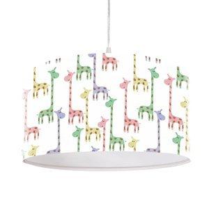 Maco Design Závesná lampa Žirafa, potlačené tienidlo Ø 40cm