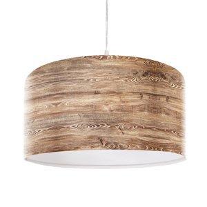Maco Design Rustikálna závesná lampa Woody s dreveným vzhľadom