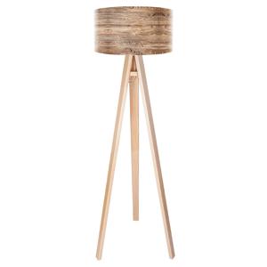 Maco Design Drevená stojaca lampa Woody s potlačeným tienidlom