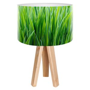 Maco Design Trojnohá stolná lampa Flip s motívom steblo trávy