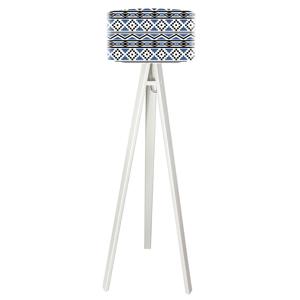 Maco Design Moderná stojaca lampa Kiano s lakovaným drevom