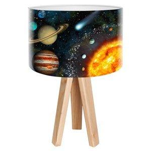Maco Design Stolná lampa Space s realistickou potlačou vesmíru