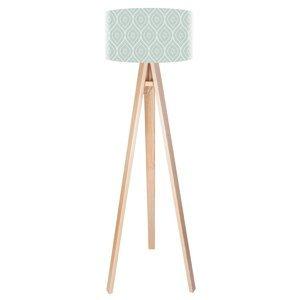 Maco Design Trojnohá stojaca lampa Rena s potlačeným tienidlom