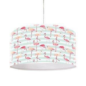 Maco Design S motívom plameniaka potlačená závesná lampa Miami