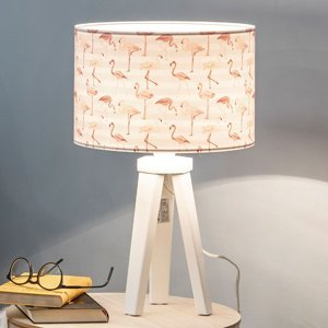 Maco Design Stolná lampa Miami s potlačou s plameniakmi