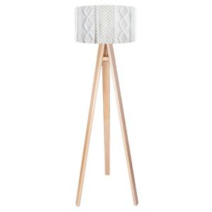 Maco Design Moderná stojaca lampa Calgary, potlač pletený vzor