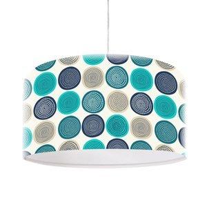 Maco Design S moderným motívom potlačená závesná lampa Aqua