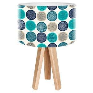 Maco Design Trojnohá stolná lampa Aqua s potlačeným motívom