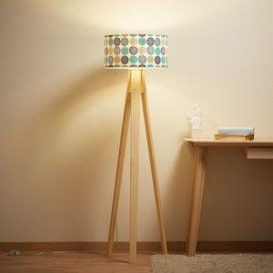 Maco Design Stojaca lampa Aqua s trojnohým dreveným rámom