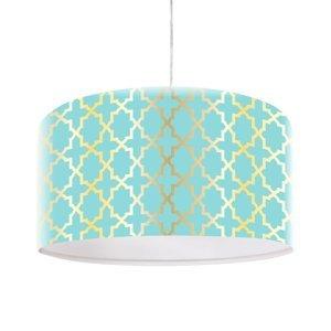 Maco Design Závesná lampa Tatyana s geometrickým vzorom