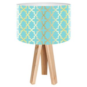 Maco Design Stolná lampa Tatyana s geometrickým motívom
