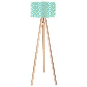 Maco Design Trojnohá stojaca lampa Tatyana s retro vzorom