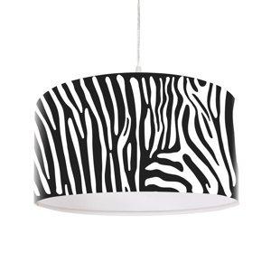 Maco Design Potlačená závesná lampa Zola so zebrími pruhmi