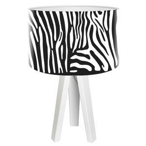 Maco Design Trojnohá stolná lampa Zola vo vzhľade zebry