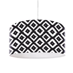 Maco Design Čiernobiela potlačená závesná lampa Marlon