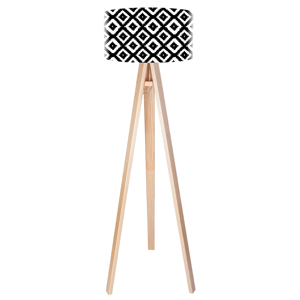 Maco Design Trojnohá drevená stojaca lampa Marlon