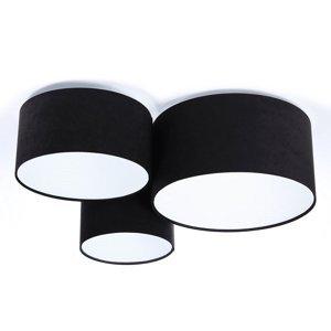 Maco Design Stropné svietidlo 080 troj-plameňové, čiernobiele
