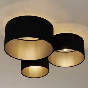Maco Design Stropné svietidlo 080 3-plameňové čierna/striebro