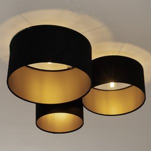 Maco Design Stropné svietidlo 080, 3-plameňové čierna/zlato