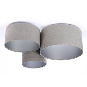 Maco Design Stropné svietidlo 080 3-pl. svetlosivé/striebro