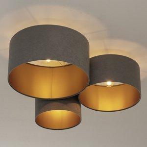 Maco Design Stropné svietidlo 080 3-pl. svetlosivé/zlaté