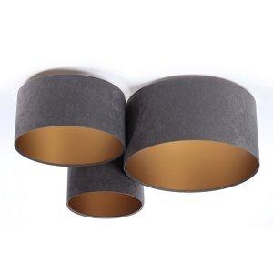 Maco Design Stropné svietidlo 080 3-plameň tmavosivé/zlaté