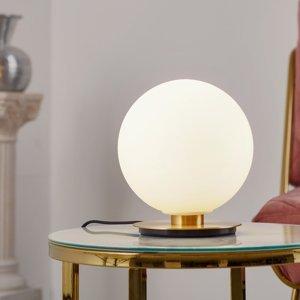 MENU Menu TR Bulb stolná lampa 22cm mosadz/opál matná