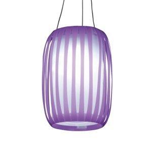 Näve V tvare lampiónu – solárna LED lampa Lilja fialová
