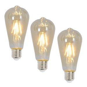 Näve E27 rustikálna LED žiarovka 4W 300lm 3ks 2200K