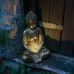 Näve Dekoračné solárne LED svietidlo Buddha